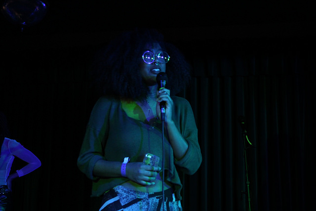Jenae reciting some spoken word poetry at Girl Fest NW 2016. Photo: Renee Lopez