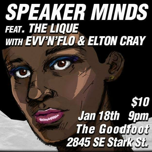Speaker Minds feat. The Lique, Elton Cray @ The Goodfoot Lounge