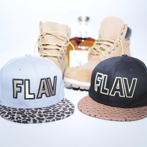 Mikey Vegaz used the show to promote and sell his FLAV caps.