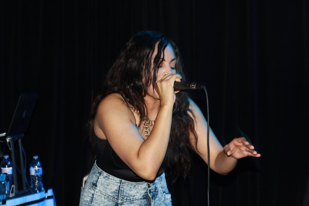 Karma Rivera performing at the Thesis in June. Photo by Jenni Moore