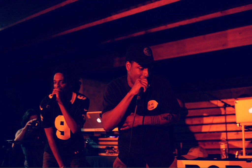 ROBy and Donte Thomas opening for Mic Capes at Rontoms' Sunday Sessions.  Photo courtesy Miss Lopez Media